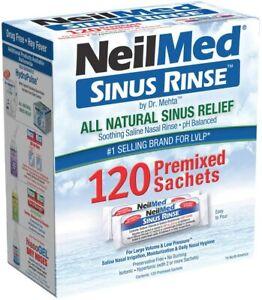 NeilMed Sinus Rinse Saline Nasal Natural Sinus & Allergy Relief 120 sachets