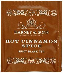 Harney And Sons Hot Cinnamon Spice Black Tea, 50 Tea Bags