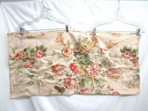 Ralph Lauren Sussex Garden 1 Beige Peach Pink Floral Sateen King Pillow Case