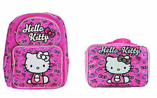 "Hello Kitty 16"" inches Backpack & Lunch Box for Kids - BRAND NEW"