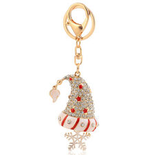 Handbag Charms Accessories Christmas Gift Santa Hat Keyrings Key Chains HK77