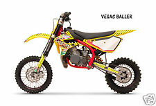 Dirt Bike Graphics Kit decal Sticker Wrap For Cobra CX50 2007-2012 VEGAS YELLOW