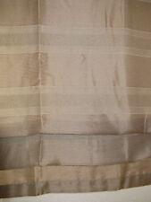 Raffrollo, Vorhang, Gardine, Schlaufen, HxB 140x80 cm, webgemustert,hellbraun