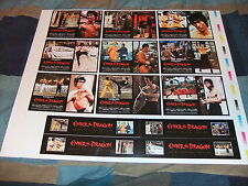 BRUCE LEE ENTER THE DRAGON UNCUT SHEET OF POSTCARDS AND BOOKMARKS GREEN HORNET