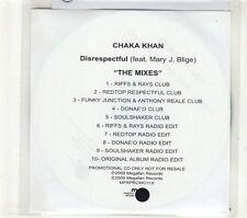 (GT854) Chaka Khan, Disrespectful (Featuring Mary J Blige) - 2009 DJ CD