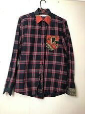 GIVENCHY MENS PLAID BUTTON UP SHIRT