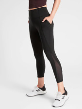 Athleta Lightning 7/8 Tight in SuperSonic, Size ST(Tall), Black, NWT