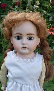 "Antique 20"" Bisque Doll Horseshoe 1902 mark"