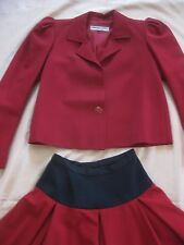 YVES SAINT LAURENT RIVE GAUCHE SKIRT SUIT PARIS FRANCE 34 VINTAGE