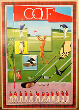 (PRL) 1990 GIOCO PLAY GOLF GAME JEU VINTAGE AFFICHE POSTER ART PRINT COLLECTION