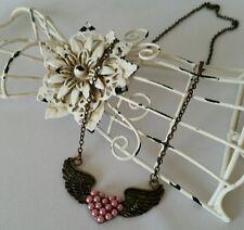 Bronze Wings Pendant sweater Chain Necklace Retro Fashion