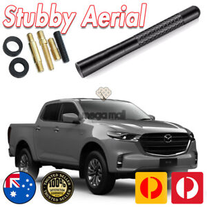 Antenna / Aerial Stubby Bee Sting for Mazda BT-50 XT Black Carbon 12CM