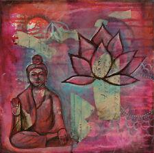 Pam Varacek: Buddha Keilrahmen-Bild 50x50 Leinwand Asia-Style Feng-Shui