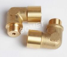 M18 x1.5 Lambda O2 Oxygen Sensor Extension REDUCE ELBOW Spacer Exhaust brass Ø04