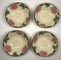 """Set of 4 Franciscan Desert Rose Dessert Fruit Berry Bowl 6"""" Flower Mark (1)"""
