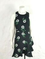 Banana Republic Womens Size 6 Dark Floral Black Sleeveless Fit & Flare Dress
