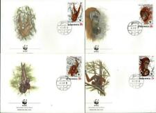 INDONESIA - 1989 WWF 'ORANGUTAN' Set of 4 First Day Covers [9414]