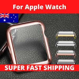 For Apple Watch Screen Protector Case 40/44mm Front Cover 1 2 3 4 5 6 SE