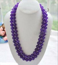 10mm Russian Amethyst Round Beads Gemstone Necklace 25'' PN752