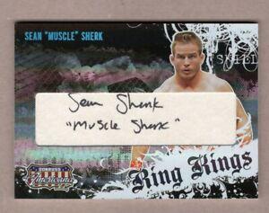 2008 Donruss Americana II Sean Sherk Ring Kings Director's Cut Auto MMA 50/100