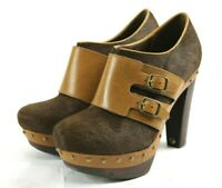 UGG Illana Women's Calf Hair Booties Pumps Size 8 Brown Leather SOLD OUT