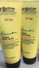 2 Bath Body Works C.O. Bigelow LEMON Cream Body Wash #1160 New