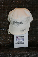 Arizona Embroidered White Hat