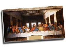 "Leonardo Da Vinci The Last Supper Canvas Print Wall Art 30x16"" A1"