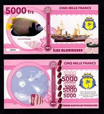 ILES GLORIEUSES ● TAAF / COLONIE ● BILLET POLYMER 5000 FRANCS ★ N.SERIE 000004