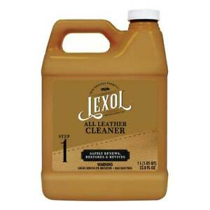 LEXOL LEATHER CLEANER ONE LITER JACKET BOOTS SOFA COUCH SHOES CHAPS SADDLE HAT