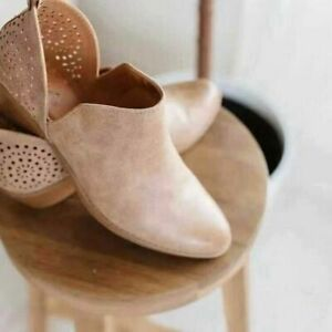 Women's Casual British Style Hollow Pointed Toe Low-Heel Soft Leather Ankle Boot