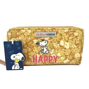 Cath Kidston Peanuts Purse Snoopy Happy Yellow Flowers