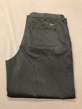 Nike Dri-Fit Golf Pants (36 x 27, Black, Striped, Polyester)