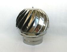 8'' / 200mm CHIMNEY SPINNER COWL Stainless Steel Rotating Wind Spinning Vent Cap