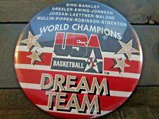 Vintage Original 1992 USA Dream Team Olympic Basketball Button Back Pin