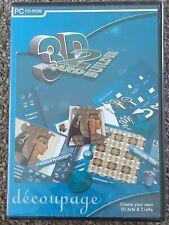 3D CARD BUILDER 2 CD-Rom DECOUPAGE CARD MAKING Digital Photo Import PYRAMAGE