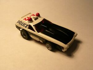 VINTAGE AURORA/AFX VEGA FUNNY CAR / POLICE A-12 Slot Car with Running Chassis