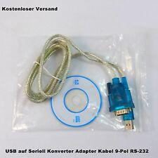 USB zu Seriell Konverter Adapter Kabel RS-232 9-Pol 0.8m NEU