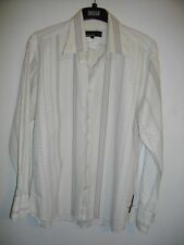 NEW * DUCK and COVER * OFF WHITE, RETRO STRIPE REGULAR FIT SHIRT SIZE L RRP £45