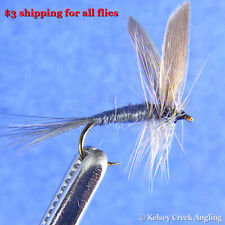 1 Dozen (12) Blue Dun - fishing fly, dry fly, trout fly