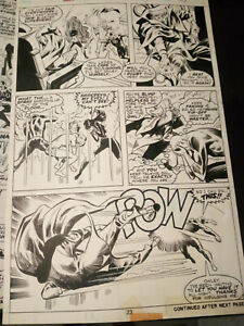 daredevil 117 (1975) with black widow original art by bob brown