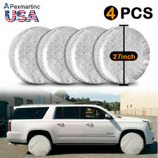 4pcs 27 Canvas Rv Wheel Tire Covers Protector Cover Set For Trailer Car Fits Workhorse