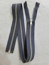 "10-ZIPPERS/USA/Vtg/TALON #5 Jacket/Separating Metal ALUMINUM 26.75"" D.GRY/COTTON"