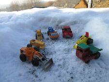 SVV MATCHBOX BY lESNEY CORGI JUNIOR MAJORETTE lot anciens véhicules de chantiers