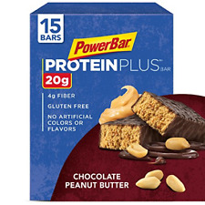 PowerBar Protein Plus Bar, Chocolate Peanut Butter, 2.12 Ounce 15 Count