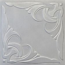 Decorative Ceiling Tiles Styrofoam 20x20 R95 White Silver Painted