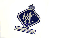 RACV (CIRCA 1960's) DOUBLE SIDED WINDOW STICKER -  VALIANT HOLDEN FORD