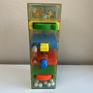 Vintage 1971 Fisher Price TUMBLE TOWER Marble Maze Hour Glass Timer Game No 118