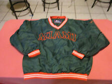 MIAMI HURRICANES VINTAGE PRO PLAYER PULLOVER WINDBREAKER JACKET SIZE L