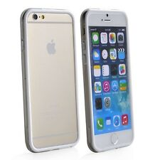 "FUNDA BUMPER PARA IPHONE 6 / 6S PLUS 5,5"" BLANCO-TRANSPARENTE CARCASA+PROTECTOR"